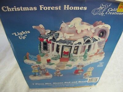 California Creations Ready To Paint  Christmas Forest Homes Mrs Mouse Village