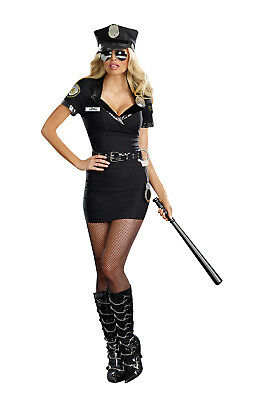 Dreamgirl Dirty Cop Officer Anita Costume, Small - 8816