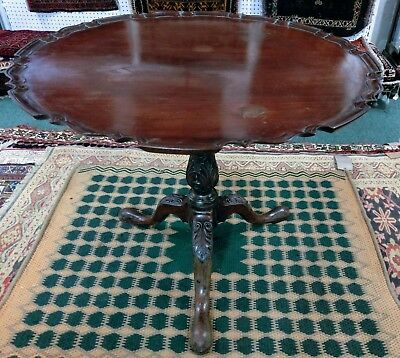 George III Mahogany Snap-Top Table with Pie-Crust Edging c.1765