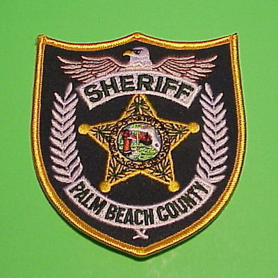 Palm Beach County  Florida  Fl  Police Patch ( Center Variety )  Free Shipping!!