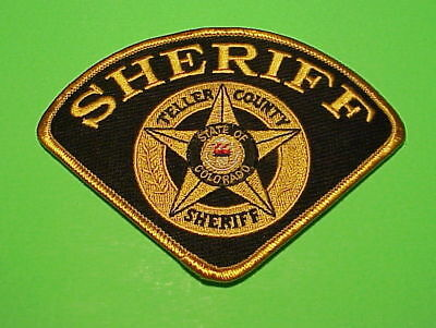 Teller County  Colorado  ( Black  Background )  Sheriff / Police Patch