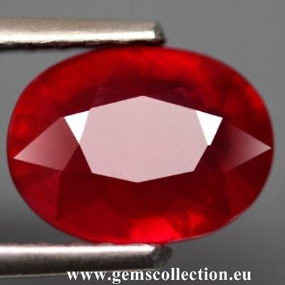 Aaa Rubino Naturale - Natural Ruby Ct 2.81 Si Top Red Oval Cut Origin Madagascar