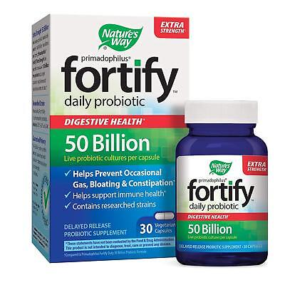 Nature's Way FORTIFY Extra Strength Daily 50 Billion Probiotic 30 caps EXP 5/19