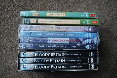 Job lot of History DVDs new box sets Bloody Britain WW2 + 2 x Horrible Histories