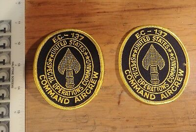 Special Operations Command Ec-137 Aircrew Patches 2X