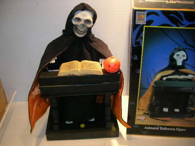 MIB GEMMY Skeleton Grim Reaper Piano Halloween Animated Organ Music Eyes Light