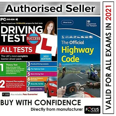 2018 Driving Theory Test & Hazard CD DVD + Official Highway Code Book*atpc+Hw