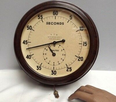 Clock [ Second Timer ]  Wall Clock [ Bakelite ] 1930's { War Dpt } Smiths [ Rare