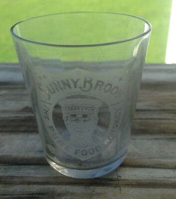 Vintage Advertisement Shot Glass Sunny Brook Pure Food Whiskey