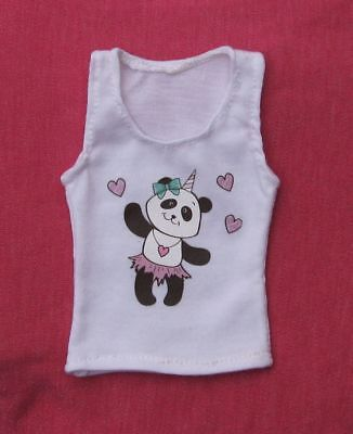 White cute panda tank top for MSD, 1/4 BJD dollfie