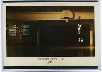 Nike Michael Jordan Poster Card There Is No Finish Line Vintage Ad Oddball