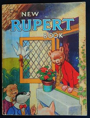 Vintage Oirginal 1946 Rupert Bear Annual, Price Unclipped 3/6