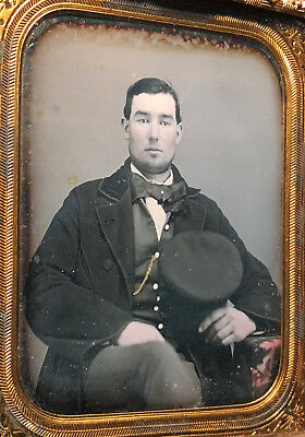 Sixth Plate Daguerreotype of a Man with Cap c.1850