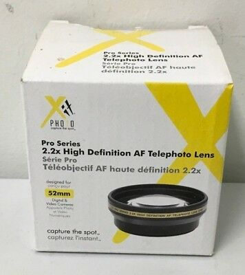 Xit Photo Pro Series 52mm 2.2x HD AF Telephoto Lens