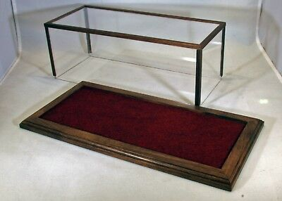 1/24 Scale Walnut Model Car Case w/Burgundy Felt Floor by Oak Hill Craft - C9