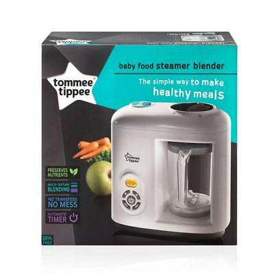 Tommee Tippee Automatic Timer BPA Free Baby Food Steam Blender - White