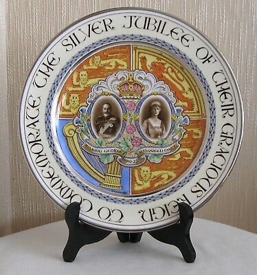 Paragon King George V and Queen Mary Silver Jubilee Plate Hand Painted 1935