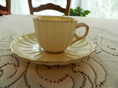 Lenox Fine Bone China Iridescent Yellow Demitasse Cup & Saucer 1-1