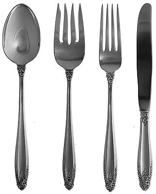 4 Pc. PLACE SETTING ~ INTERNATIONAL STERLING SILVER Vintage 1939 PRELUDE Pattern
