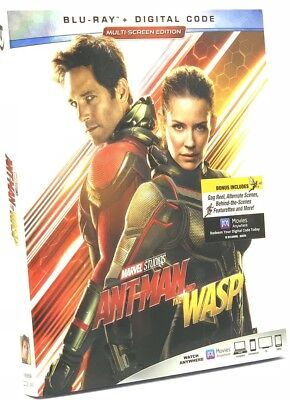 Ant-Man and the Wasp (Blu-ray+Digital, 2018) NEW w/ Slipcover