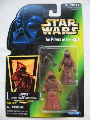 Star Wars POTF-2 - Jawa's 2pack w. Glowing Eyes and Blaster Pistols