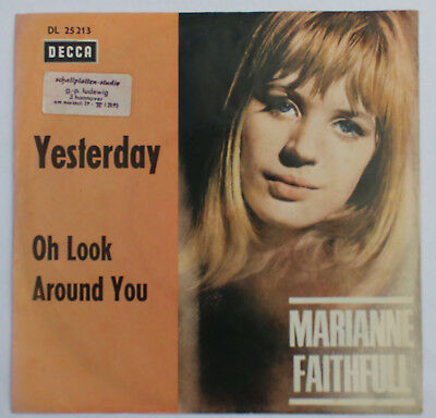 ``7`` Marianne Faithful - Yesterday / Oh Look Around You - dt. Decca 25 213