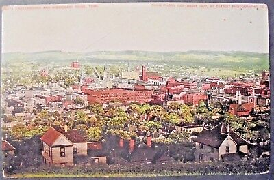 Vtg Postcard/ Tennesee/ Chattanooga And Missionary Ridge/ 1902/ Aerial View.