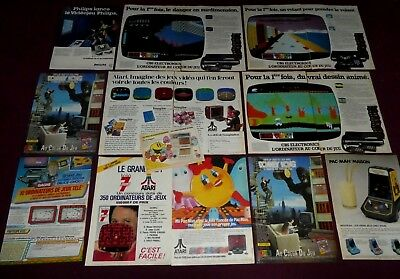Atari Cbs  Lot Publicites Vintage Pac Man Donkey King Console Jeux Video Philips