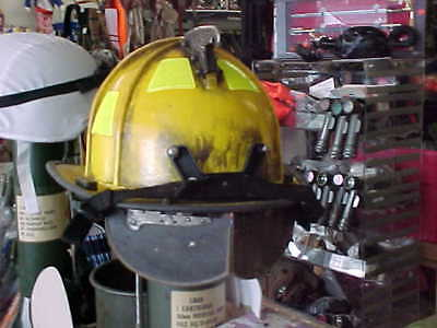 MORNING PRIDE  Fire Helmet MILITARY FIRE FIGHTER FIRST RESPONDER  WELL USED