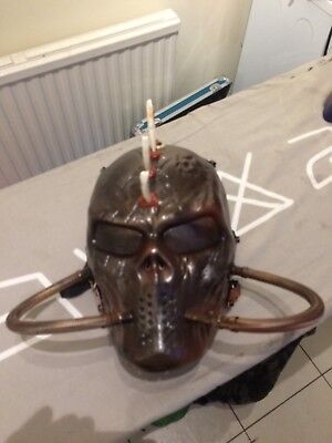 post apocalyptic cosplay airsoft custom mask full face mesh lense