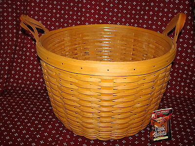 Longaberger HOSTESS 1998 CORN Basket With Protector Leather Loop Handles *New*