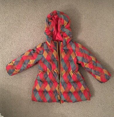 Oilily Toddler Girls Winter Coat Red Age 2