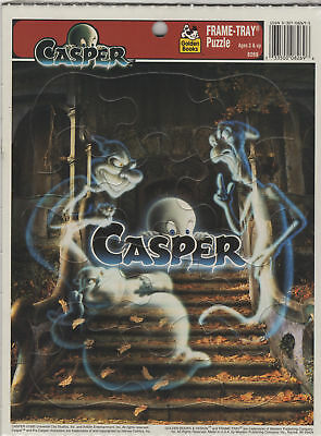 CASPER Friendly Ghost MOVIE frame tray puzzles LOT (6) 1995 GOLDEN BOOKS sealed