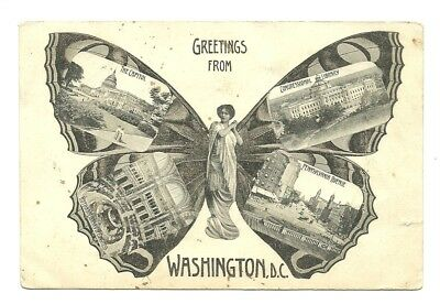 1908 Washington Dc Butterfly Lady Four View