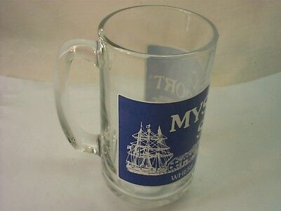 Mystic Seaport Glass Mug Where The Ships Are