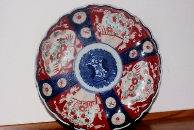 19Th C  Antique Japanese Meiji Period Imari Pottery Plate