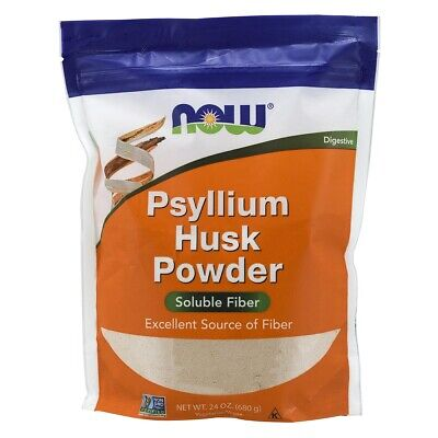 Now Foods Psyllium Husk Powder 24 oz (680g) FREE Shipping Made in USA FRESH