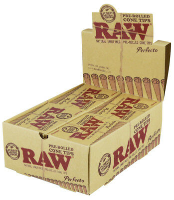 Raw Perfecto Pre-Rolled Cone Tips - 20pc Display