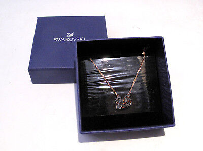 Swarovski Facet Swan Necklace 5281275 Bargain Crystal Reversible Jewelry Boxed