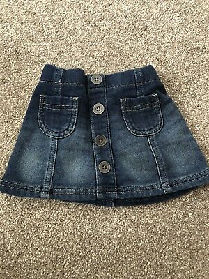 Baby Girls Next Denim Skirt 3-6 Months