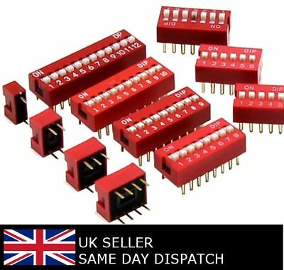 Slide Dip Switch Module 2.54mm DIL SPST PCB Breadboard Arduino 1-12 way