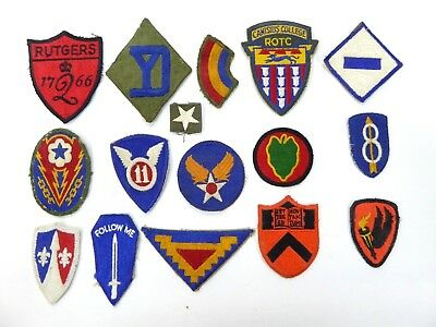 Nice Group Of Vintage Military  And Civilian Insignia Patches - Lot# 2