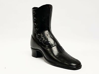 Vintage Black Cast Iron Victorian Boot