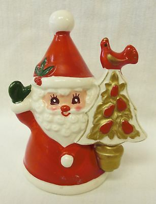 Vintage NAPCO Christmas Santa with Partridge In A Pear Tree Bell w/Boots Clapper