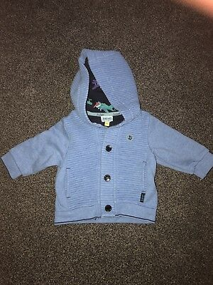 Baby Boys Ted Baker Jacket Hoodie 0-3 Months VGC