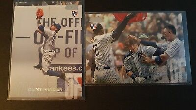 2018 TOPPS STADIUM CLUB CLINT FRAZIER RC IMAGE VARIATION SP and BASE (LOT OF 2)