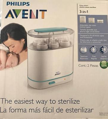 Philips Avent 3-in-1 Electric Steam Sterilizer Baby Bottle Washer Germ Cleaner N