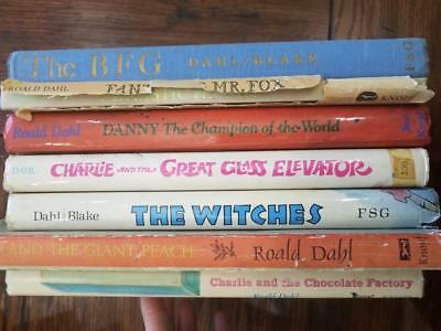 ROALD DAHL 7 bks CHARLIE CHOCOLATE FACTORY Fantastic Mr Fox JAMES all 1st /early