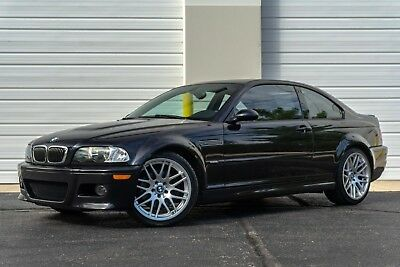2002 BMW M3 Base Coupe 2-Door 2002 BMW E46 M3 6MT 52K CB/BLACK COLD PREMIUM XENON NAV H/K 19'S REAR SHADE PDC