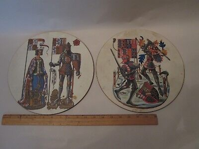 Lady Clare company place mat trivet Medieval knight art queen decor dining